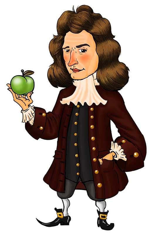 Ilustração Isaac Newton