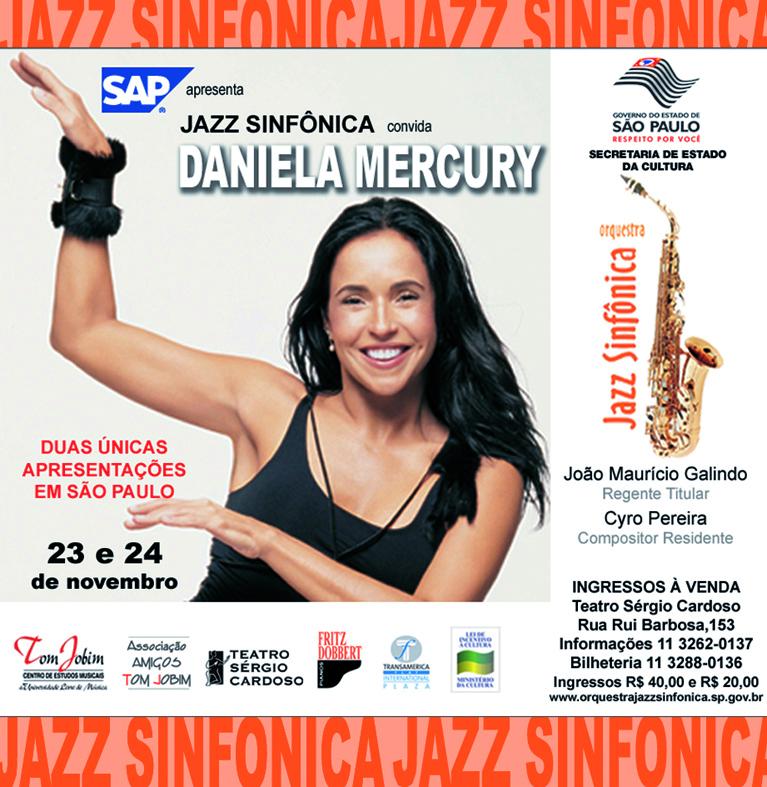 Jornal O Estado de São Paulo e Folha de São Paulo - Jazz Sinfônica convida Daniela Mercury