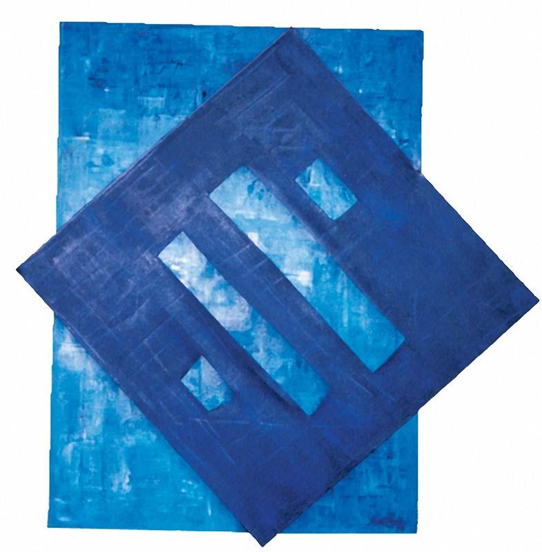 Window Azul (óleo sobre tela)