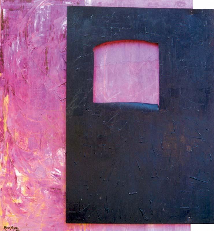 Window Lilás (óleo sobre tela)