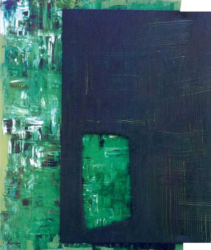 Window Verde (óleo sobre tela)