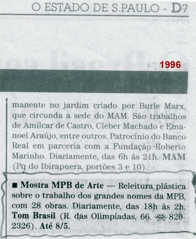 Clipping - O Estado de São Paulo (1996)