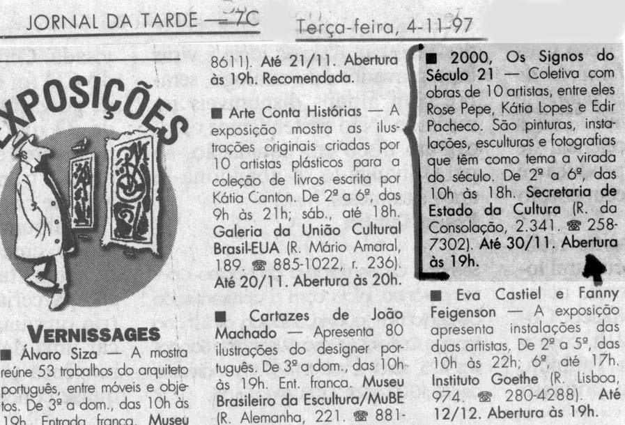 Clipping - Jornal da Tarde SP (1997)