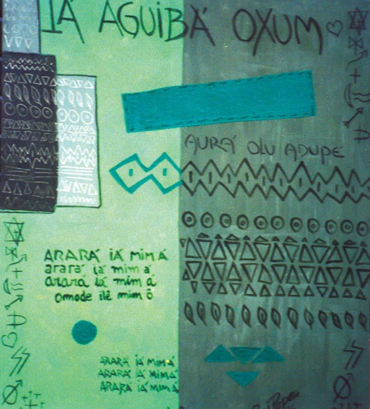 Iá Aguibá Oxum (óleo sobre tela)