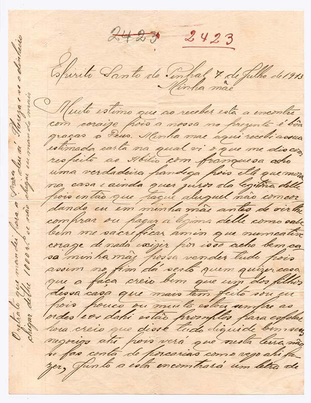 Carta de Joaquim da Silva (pg 1)