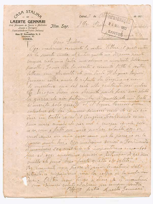 Carta de Laerte Gennari