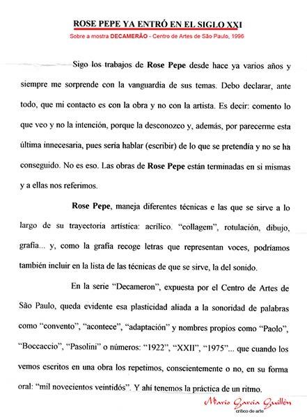 Crítica - María Garcia Guillèn