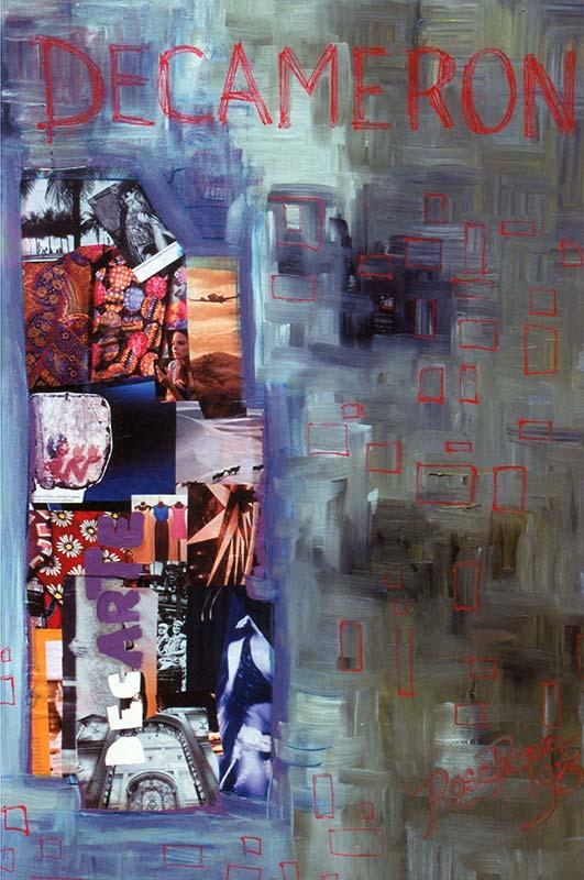 Dentro do Barril (óleo sobre tela)