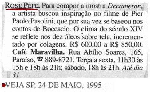 Clipping - Revista Veja / 1995
