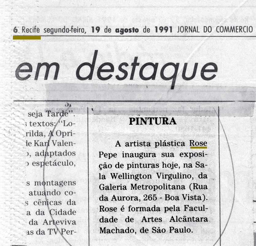 Clipping - Jornal do Commercio Recife 1991